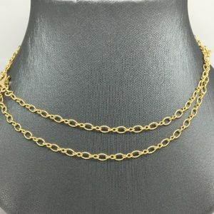 """Jewelry - 14K Yellow Gold Mix Oval Link Chain 22"""""""